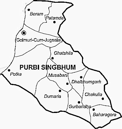 East Singhbum District  East Singhbum District Map