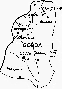 Godda District  Godda District Map