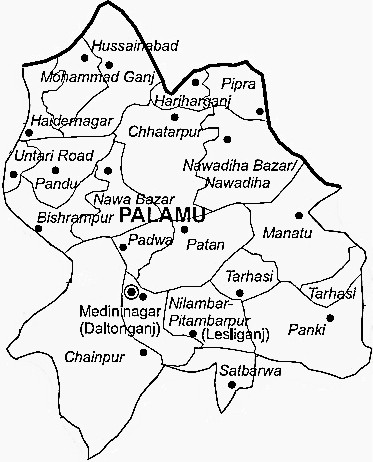 Palamu District  Palamu District Map