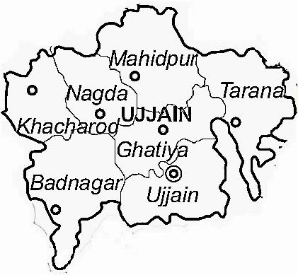 Ujjain Temple Map Ujjain District Map