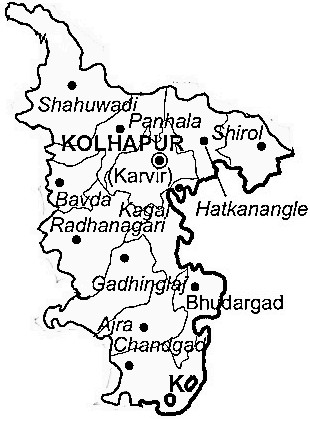 Kolhapur District | Kolhapur District Map