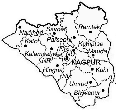 Nagpur District Nagpur District Map