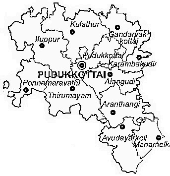 Pudukkottai District | Pudukkottai District Map