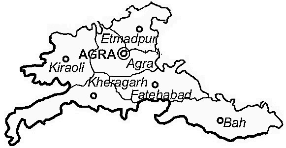 Agra District Agra District Map