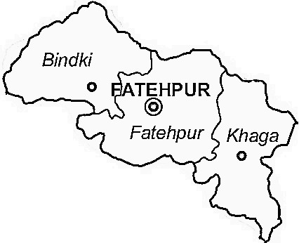Fatehpur District  Fatehpur District Map
