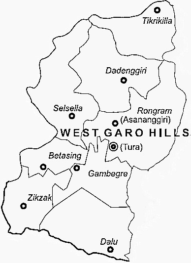 West Garo Hills District  West Garo Hills District Map