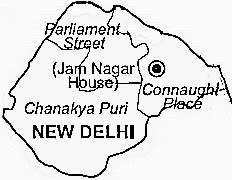 Delhi District  Map . Surrounded by Delhi District ,North Delhi District ,North East Delhi District , .