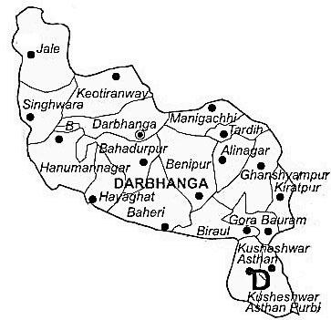 Darbhanga District | Darbhanga District Map