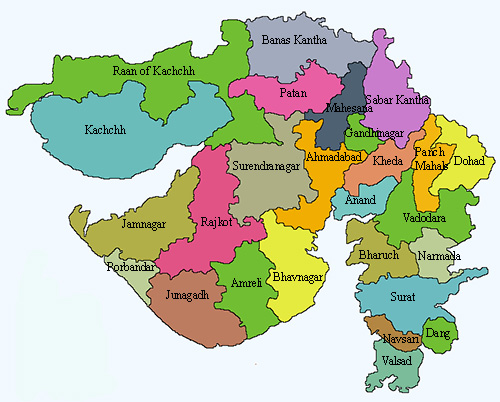 gujarat map with districts Gujarat State gujarat map with districts