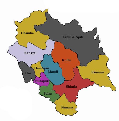 Shimla Tourist Places Map