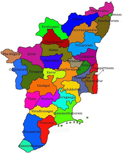 Tamil Nadu State - Tamilnadu map