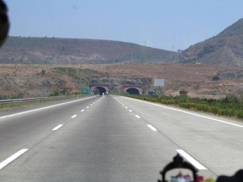 Near Kamshet tunnel on Mumbai Pune Expressway