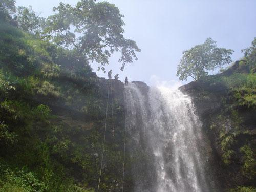 Waterfall at Mahuli Fort