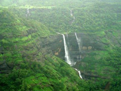 A waterfall near Fort Rajmachi