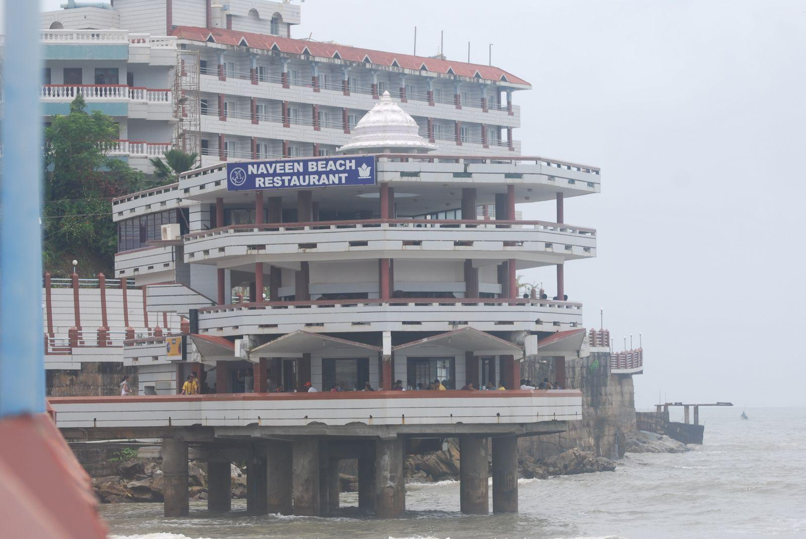 view of Beach hotel at Murudeshwar