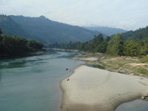 Subansiri river,Daporijo