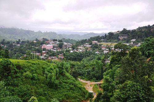A view of Itanagar from hills