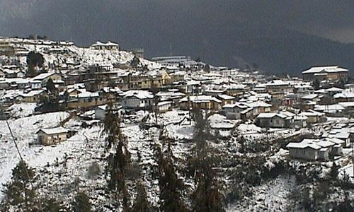 Snowfall in Tawang