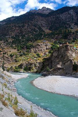 Sutlej River in Kinnaur Valley