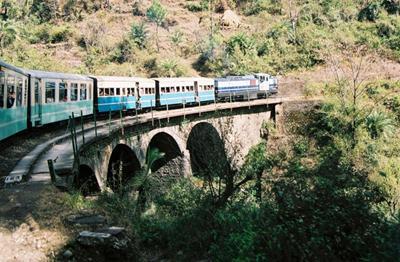 KSR Train on a small bridge