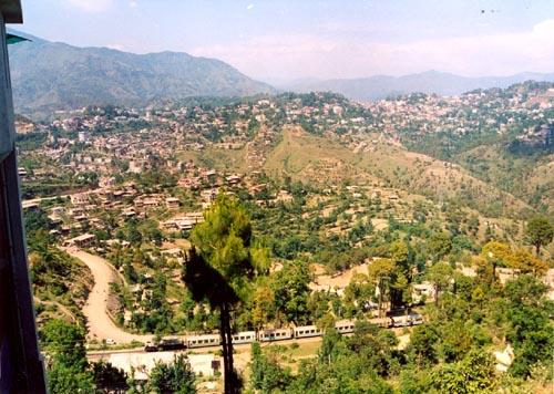 Hill Ranges of the Solan area looking south
