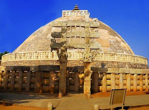 A buddhist monastery at Sanchi