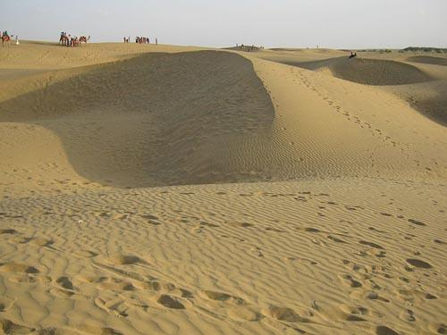 Sand dunes in Bikaner