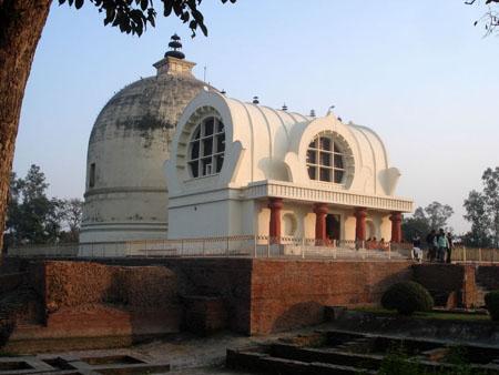 The Parinirvana Temple with the Parinirvana Stupa