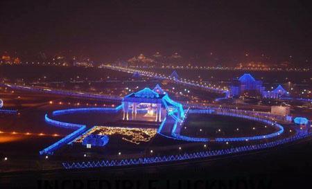 Ambedkar Park Night View
