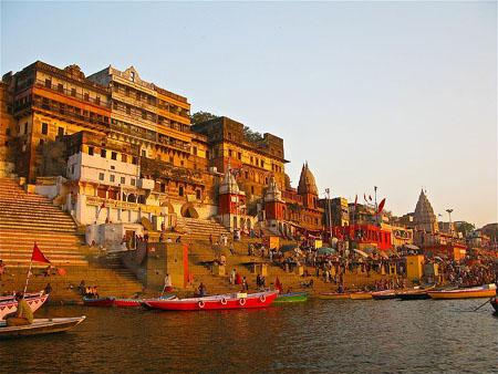 Ahilya Ghat by the Ganges, Varanasi