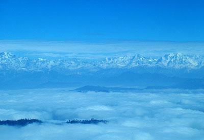 Binsar, a view of Kumaon Himalayas