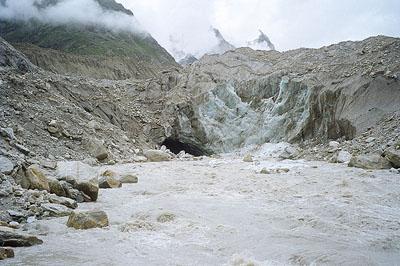 Gaumukh, source of the Ganges above Gangotri