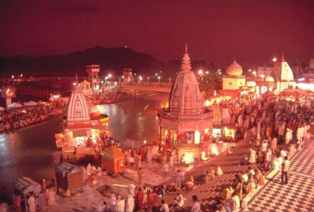 Evenin view of Har ki Pauri Haridwar
