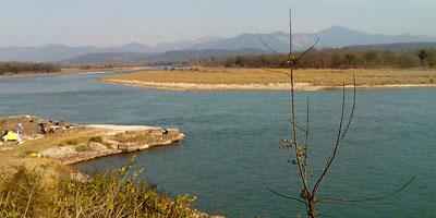 Main Ganga river before the Bhimgoda barrage Haridwar