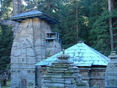 The temples at Jageshwar, believed to include the Nagesh Jyotirlinga