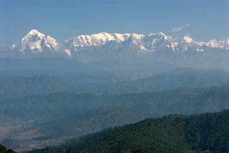 Trisul Nanda Devi and Himalayan range from Kausani
