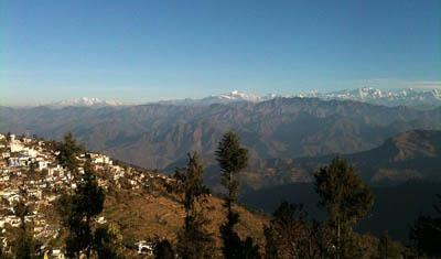 Western Himalayas from Pauri