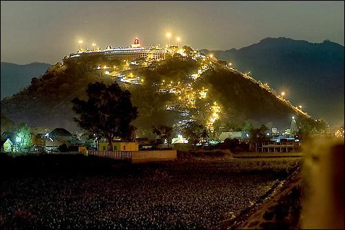 Palani Hills View at night