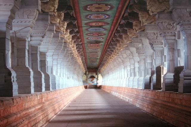 Magnificent corridor of Ramanathaswamy Temple , Rameshwaram, Tamil Nadu