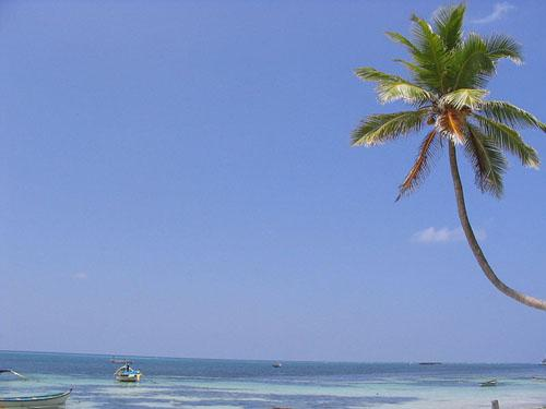 A beach at Kavaratti, Lakshadweep