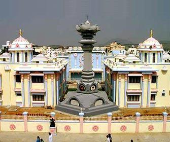 sarva dharma stupa and poorna chandra hal puttaparthi