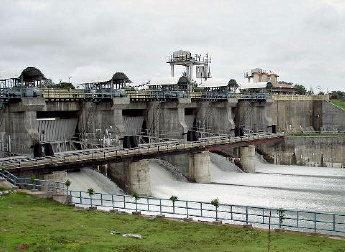 Yagachi dam near Belur in Hassan district