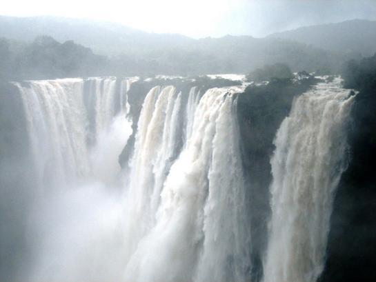 Jog Falls during monsoon