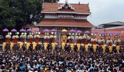 Thrissur Pooram is one of the biggest festivals in India