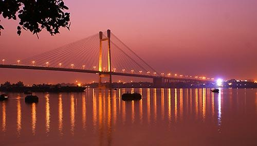 kolkata lights at Twilight