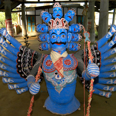 Traditional Assamese mask of Ravana