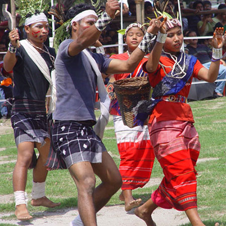 Rabha dancers of Assam