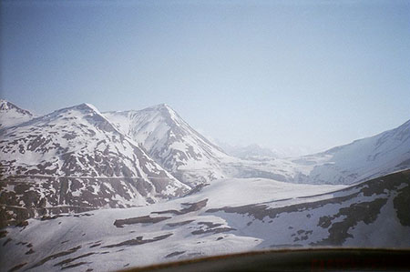 Aerail view of Lahaul valley in winter