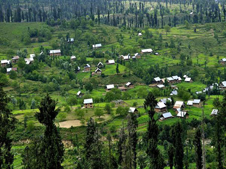 View of Doodpathri village pic Maqsood bhat