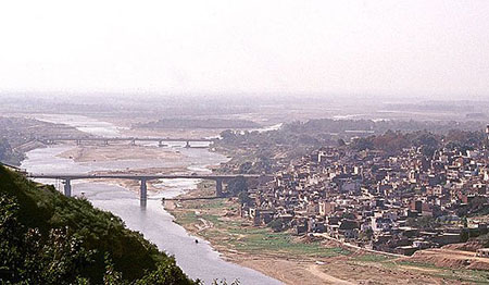 View of Jammu city and the Tawi River
